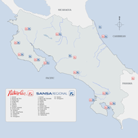 Costa Rica Airport Maps