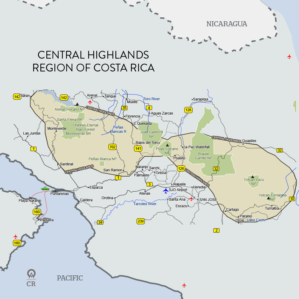 Costa Rica Central Highlands